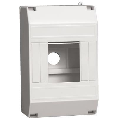Бокс ИЭК КМПн 1/4 MKP31-N-04-30-135 пластиковый навесной щит распределительный навесной на 2 4 модуля щрн п 4 ip30 пластиковый без дверей 1 4 кмпн белый