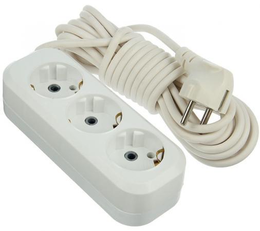 Удлинитель сетевой LUX У3-Е-03 белый 3-местный с заземлением, 220В 16А, 3м (35) сетевой удлинитель lux у 161 03 1 местный с з к 250в 16а 3м