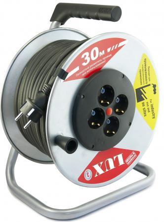 Удлинитель Lux 44130 К4-Е-30 КГ 4 розетки 30 м