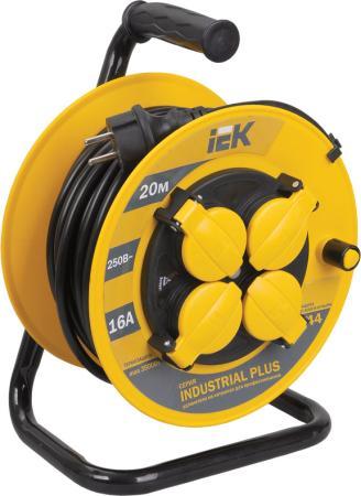 все цены на Удлинитель IEK Industrial plus WKP15-16-04-20-44 4 розетки 20 м онлайн