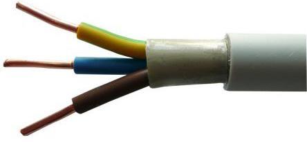 Кабель силовой NYM Севкабель 3x2.5 мм круглый 100м белый ГОСТ кабель медный силовой nym нум 5х10 евростандарт
