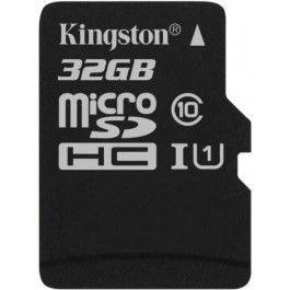 Карта памяти Micro SDHC 32GB Class 10 Kingston SDCS/32GBSP карта памяти 32gb kingston high capacity class 10 secure digital sd10vg2 32gb