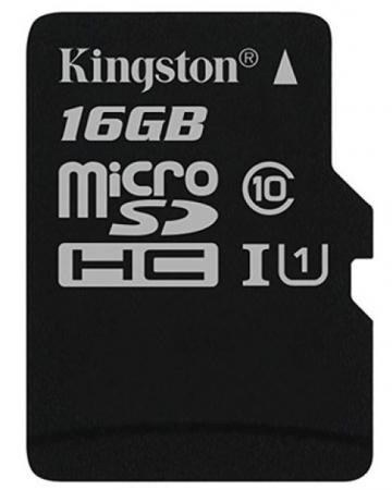 Карта памяти Micro SDHC 16GB Class 10 Kingston SDCS/16GBSP microsdhc kingston 16gb class 4 sdc4 16gbsp