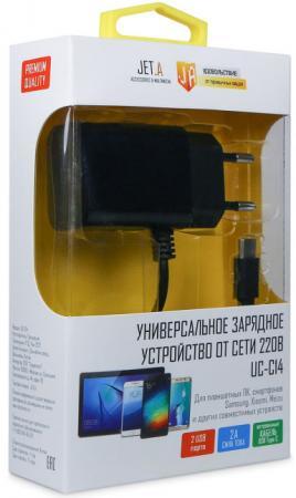Сетевое зарядное устройство Jet.A UC-C14 2.1A USB-C черный цена и фото
