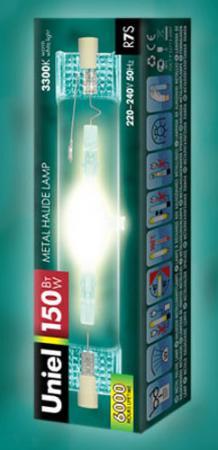 Лампа газоразрядная UNIEL MH-DE-70/GREEN/R7s металогалогенная линейная R7s 70Вт зеленый цвет лампа противомоскитная thermacell halo mini repeller green цвет зеленый в комплекте лампа 1 газовый картридж 3 пластины