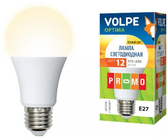 Лампа светодиодная VOLPE LED-A60-12W/WW/E27/FR/O 12Вт Е27 А60 лампа светодиодная volpe rgb e27 3 вт свет rgb