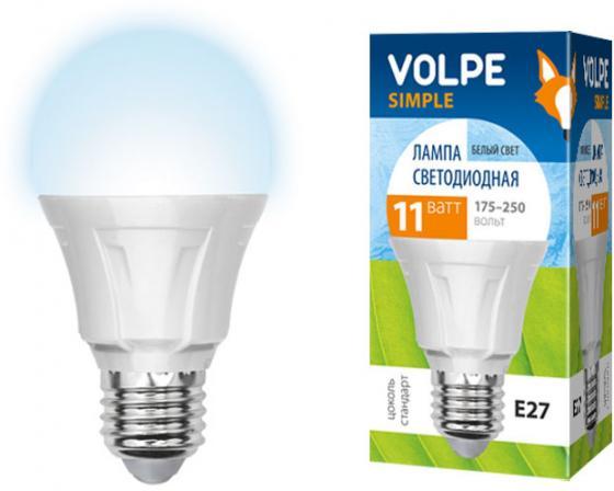 лучшая цена Лампа светодиодная VOLPE LED-A60-11W/NW/E27/FR/S E27 11Вт форма A60 матовая колба белый