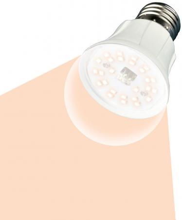 Лампа светодиодная для растений UNIEL LED-A60-10W/SPFR/E27/CL PLP01WH подсветка для растений uniel ult p30 15w spfs ip40 white