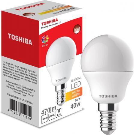 Лампа TOSHIBA 01301315168A светодиодная гольф 40Вт 2700k 80ra nd Е14 frosted-1 pk toshiba 00101315010b 60 40 2700k 80ra nd 1 pk