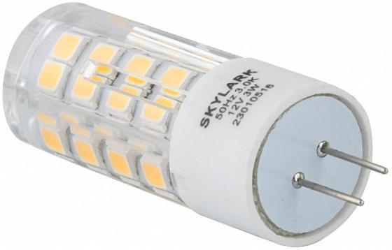 Лампа светодиодная SKYLARK А019 G4 3W 3000K 12V skylark лампа светодиодная skylark шар матовый e27 6 5w 3000k a003