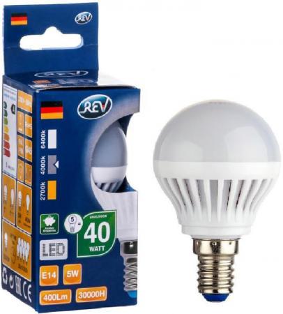 Лампа светодиодная шар Rev ritter 32261 0 E14 5W 4000K rev ritter 68386 1