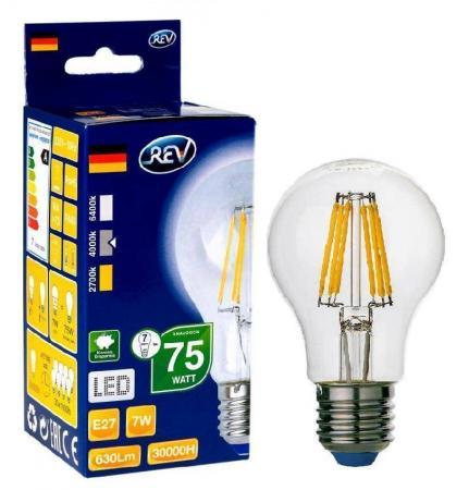 Лампа светодиодная REV RITTER 32354 9 6Вт E27 540лм 4000К холодный свет лампа светодиодная rev deco premium filament g45 32485 0 холодный свет цоколь e27 7 вт