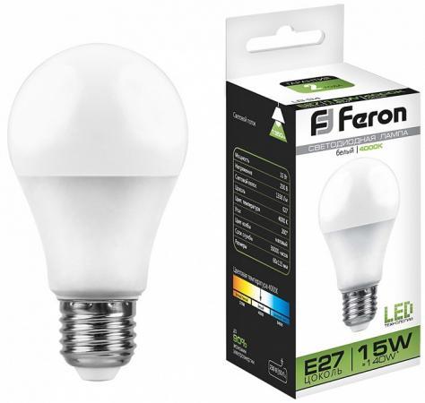 Лампа светодиодная FERON 25629 (15W) 230V E27 4000K, LB-94 лампа светодиодная feron 25629 15w 230v e27 4000k lb 94