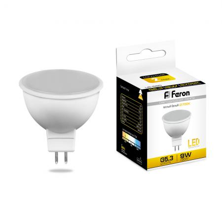 Лампа светодиодная FERON 25839 (9W) 230V G5.3 2700K, LB-560