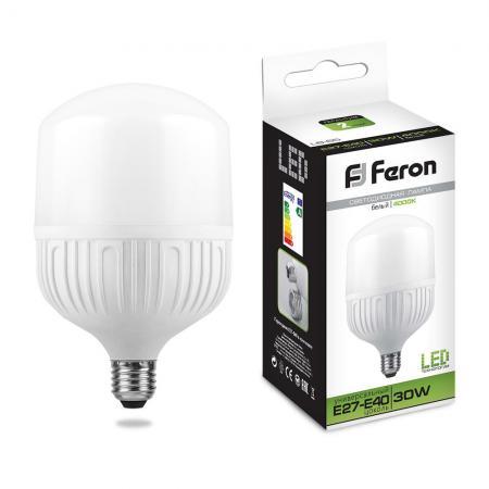 лампочка feron lb 65 e27 30w 4000k 230v 25818 Лампа светодиодная FERON 25818 (30W) 230V E27 4000K, LB-65