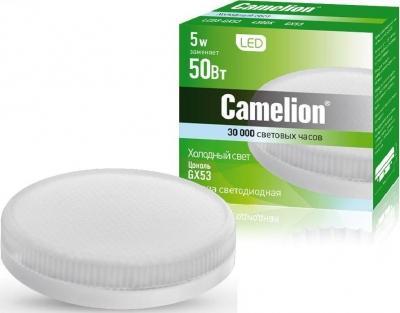 Лампа светодиодная CAMELION LED5-GX53/845/GX53 5Вт 220В GX53
