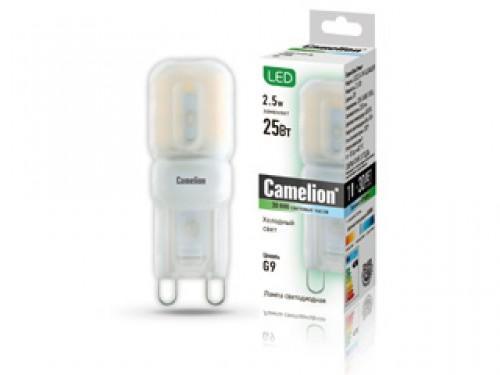 Лампа светодиодная CAMELION LED2.5-G9-SL/845/G9 2.5Вт 220В G9 4500К светильник ночник светодиодный camelion nl 171 фонарик led 220в 4500к желтый белый