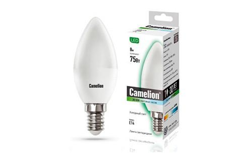 Лампа светодиодная CAMELION LED8-C35/845/E14 8Вт 220в лампа светодиодная camelion led3 g45 830 е14
