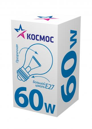 цены Лампа накаливания КОСМОС 60 Ватт, груша прозрачная Е27