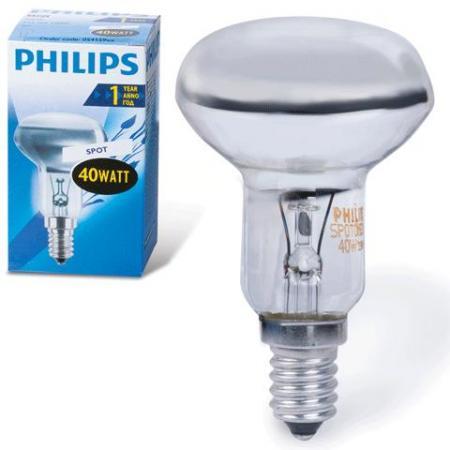 Лампа накаливания PHILIPS Spot NR50 40W E14 30° (миньон) зеркальная лезвие для philips oneblade и oneblade pro qp210 50