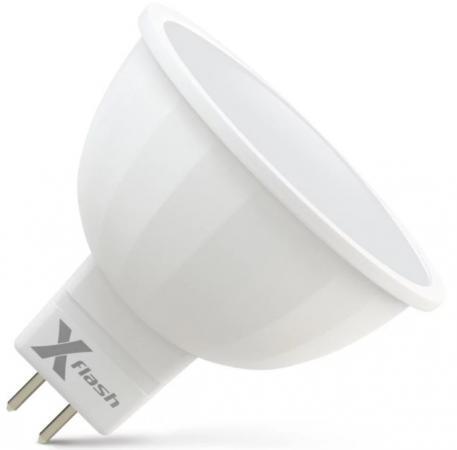 Лампа X-FLASH XF-MR16-GU5.3-6W-2700K-230V Рефлектор. GU53. 2700К. 400лм.X6 led rgb hand light flash stick yellow white 4 x ag3