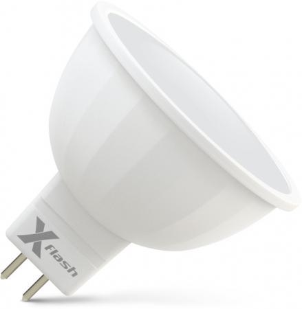 Фото - Лампа X-FLASH XF-MR16-GU5.3-6W-4000K-230V Рефлектор. GU53. 4000К. 420лм.X6 cветильник галогенный de fran встраиваемый 1х50вт mr16 ip20 зел античное золото
