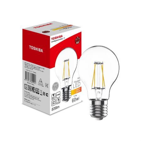 Лампа светодиодная груша Toshiba 00101760994A E27 6W 2700K toshiba 00101315010b 60 40 2700k 80ra nd 1 pk