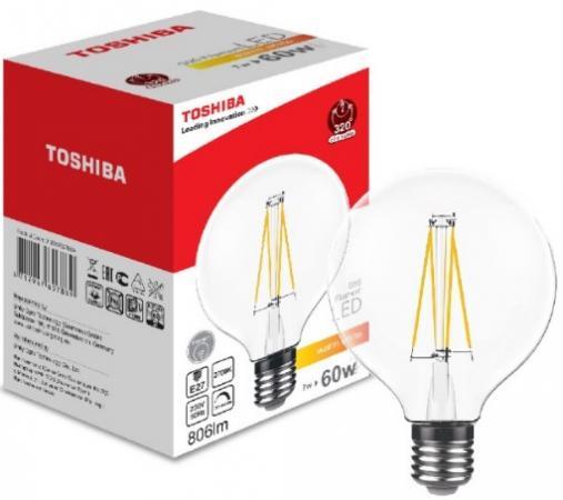 Лампа светодиодная груша Toshiba 01901760788A E27 7W 2700K toshiba 00101315010b 60 40 2700k 80ra nd 1 pk