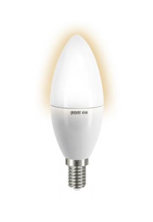 Лампа GAUSS LED Elementary Candle 6W E14 2700K Арт. LD 33116 лампа cветодиодная e14 6w 2700k свеча матовая 33116
