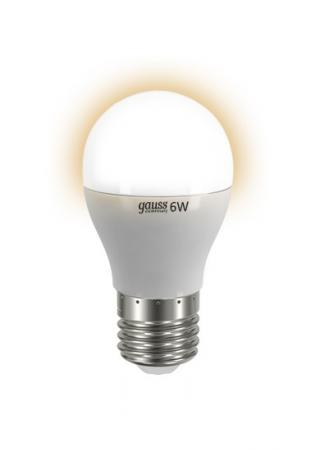 Лампа GAUSS LED Elementary Globe 6W E27 2700K Арт.LD53216
