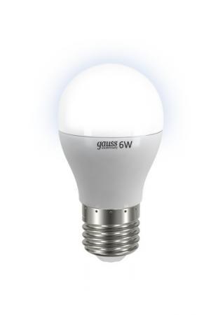 Лампа GAUSS LED Elementary Globe 6W E27 4100K арт. 53226