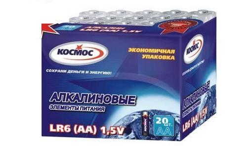 Батарейка КОСМОС KOCLR620BOX LR LR6 (уп.20шт.) батарейки космос aaa 20шт lr lr03 koclr0320box