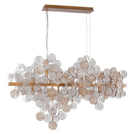 Купить со скидкой Подвесной светильник Crystal Lux Deseo SP12 L1000 Gold