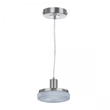 Подвесной светодиодный светильник с пультом ДУ IDLamp Frittelle 107/1-LEDWhitechrome торшер idlamp frittelle 107 1p ledwhitechrome