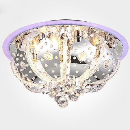 Потолочный светильник с пультом ДУ Eurosvet Chicago 80112/8 хром/синий+красный+фиолетовый потолочный светильник sland купол фиолетовый