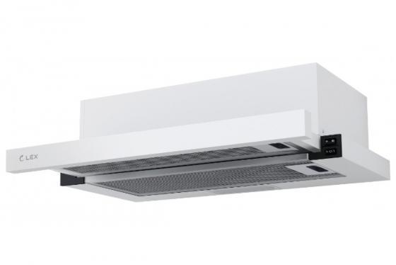 Вытяжка встраиваемая LEX HUBBLE 600 WHITE 570м3/час LED лампы вытяжка lex hubble 600 white