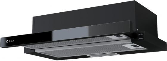 Вытяжка встраиваемая LEX HUBBLE G 500 BLACK 570м3/час LED лампы