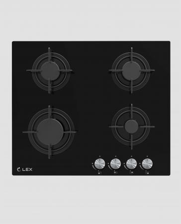 Панель варочная LEX GVG 641 BL газовая 1000-3000Вт 4конфорки цена и фото