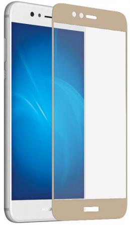 Закаленное стекло DF hwColor-19 с цветной рамкой для Huawei Nova 2 Plus золотистый цена и фото