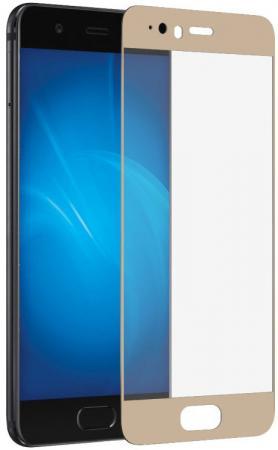 Закаленное стекло DF hwColor-09 с цветной рамкой для Huawei P10 золотистый