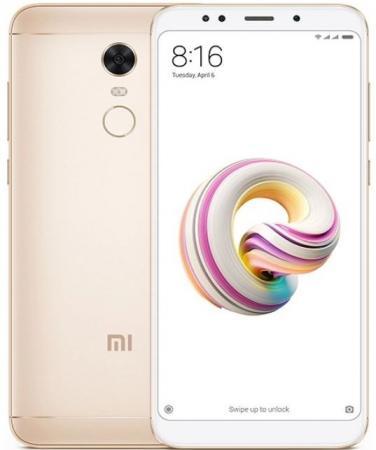 Смартфон Xiaomi Redmi 5 Plus золотистый 5.99 64 Гб LTE Wi-Fi GPS 3G смартфон xiaomi redmi note 4 черный 5 5 64 гб lte wi fi gps 3g redminote4bl64gb