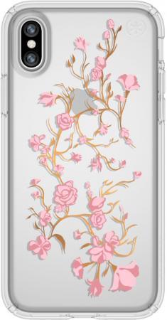 Накладка Speck Presidio Clear + Print Golden Blossoms Pink/Clear для iPhone X прозрачный 103136-5754 цена