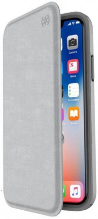 Чехол-книжка Speck Presidio Folio для iPhone X серый 110575-7360 presidio