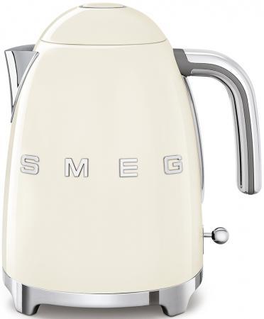 Чайник Smeg Стиль 50-х годов 2400 Вт кремовый 1.7 л нержавеющая сталь KLF03CREU smeg klf01xxcn pb электрическтй чайник синий