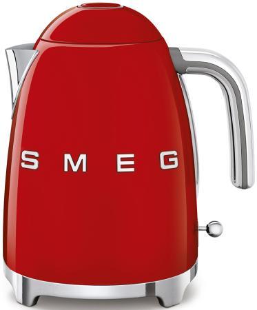 Чайник Smeg Стиль 50-х годов 2400 Вт красный 1.7 л нержавеющая сталь KLF03RDEU тостер smeg tsf02pkeu