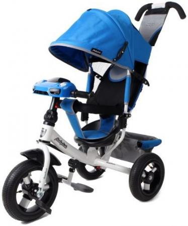 Велосипед трехколёсный Moby Kids Comfort Air Car 2 300/250 мм синий велосипед moby kids comfort 12x10 eva car 300 250 мм синий 641082