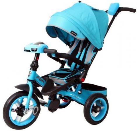Велосипед трехколёсный Moby Kids Leader 360° AIR Car 300/250 мм бирюзовый 641072