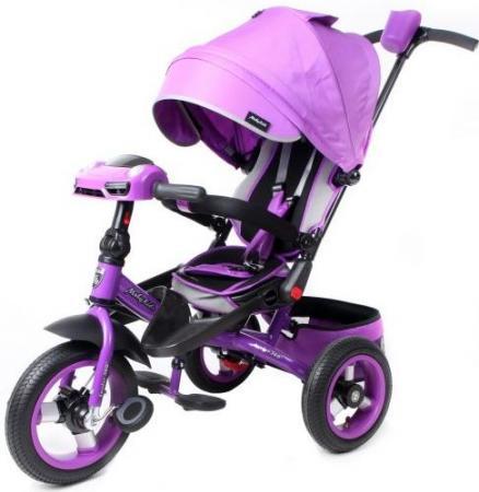 Велосипед трехколёсный Moby Kids Leader 360° AIR Car 300/250 мм фиолетовый 641073