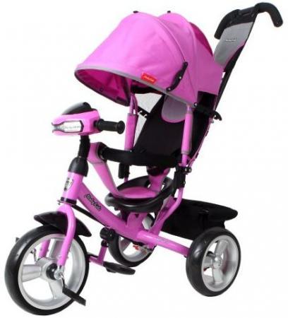 Велосипед трехколёсный Moby Kids Comfort EVA Car 300/250 мм розовый 641083
