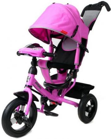 Велосипед трехколёсный Moby Kids Comfort AIR Car1 300/250 мм розовый 641086 велосипед moby kids start eva 250 200 мм розовый